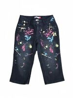 SO Girls Paint Splattered Capri Pants Size 10 Stretch Adjustable Waistband