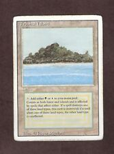 MTG Magic The Gathering - Revised - Tropical Island - Dual Land Card - Played