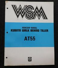 ORIGINAL KUBOTA AT55 AT 55 WALK BEHIND TILLER SERVICE REPAIR MANUAL