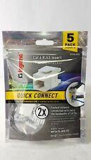Legrand Cat6 RJ45 Insert 5 Pack Quick Connect WP3476-WH-V5