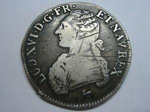 1786 LOUIS XVI ECU FRANCE ORLEANS R SILVER COIN