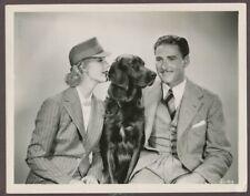 ERROL FLYNN Anita Louise Glamorous Portrait 1935 ORIGINAL Photo Retriever Dog