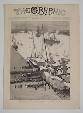Funeral Of Late Prince Louis Napoleon Arrival Of Body At Woolwich 1879 Print