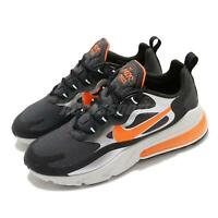 Nike Air Max 270 React Black Orange Men Lifestyle Shoes Sneakers CQ4598-084