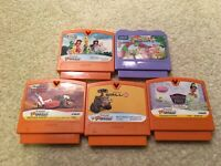Lot of 5 Game Cartridge Vtech VSmile VMotion Disney Pixar Wall-E Cars TinkerBell