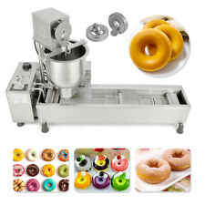 More details for 220v commercial automatic donut maker making machine wide oil tank w/3 sets mold