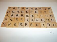 """Vintage Wooden Scrabble Tiles  50 """"R"""" Tiles  #1 With FREE Shipping!"""