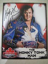 HONKY TONK MAN AUOTGRAPHED COLOR PHOTO WWE WCW WWF