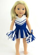 Doll Clothes 14.5 Inch Wellie Wishers Dress Cheerleader  Fit 14.5 Inch Dolls