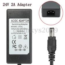 24V 2A AC/DC Power Supply Adapter Charger For Logitech Racing Wheel G27 G25 G940
