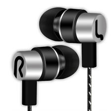 Universal 3.5mm In-ear Stereo Earbuds Earphone HIFI Mic for Samsung iPhone Cool Silver