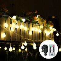 Outdoor Festoon Lights Globe String Lights Mains Powered 100LED 43FT 3.6W 8
