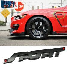 Matte Black Sport Letter Auto Emblem Trunk Lid Side Fender Decal Badge For Ford