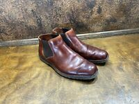 Mens Florsheim Brown Leather Ankle Boots / Chukka Shoe size 9 D