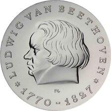 DDR 10 Mark Silber 1970 stgl. Ludwig van Beethoven in Münzkapsel