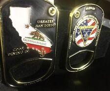 challenge coin  usn naval BASE CORONADO SAN DIEGO MILITARY NAVY cpoa