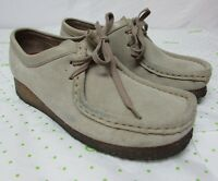 Clarks Womens Original Wallabee Leather Suede Lace Up Shoes. Size 9 M SN 35395
