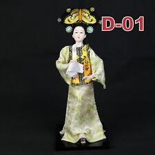 D-01 China Qing-Dynastie Geisha chinesisch Puppe Figur Seide 31cm  groß