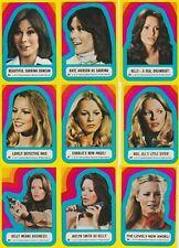 1977 CHARLIE'S ANGELS SERIES 3 STICKER SET (23-33) EX