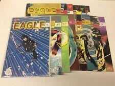 EAGLE #1-21 (CRYSTAL/1986/APPLE/HERMAN/VOKES/0617253) NEAR COMPLETE SET OF 14