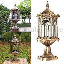 220V E27 Antique Exterior Post Path Garden Yard Landscape Lighting Sconce Lamp