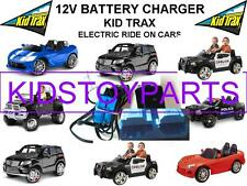 12 Volt Battery Charger / KID TRAX RACING CARS Ride On Toys w/ LG Blue Connector