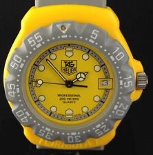 TAG Heuer F1 Mens Quartz Watch Yellow Grey Late 80s/Early 90s Vintage WOW!!!