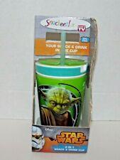 Snackeez! Jr Star Wars 2 In 1 Snack & Drink Cup Yoda Green BPA Free New (x)
