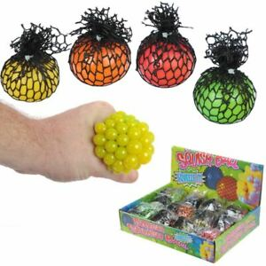 Squeezable Ball in a Net, Christmas/Birthday Gift/Present/Stocking Filler