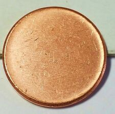 OOPS!! NON STRUCK LINCOLN MEMORIAL CENT BLANK PLANCHET WITH RIM  #1