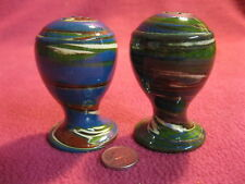 Multi-color Swirl Salt and Pepper Shakers Desert Sands Pottery 17