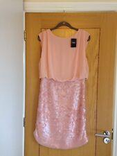 NEXT Women's Peach Sleeveless Chiffon Top & Sequin Skirt Dress Size 14 - NEW £60