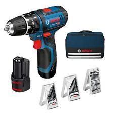 Bosch trapano Avvitatore 10.8v C/percussione 2 Batterie Litio Borsa Gop30-28