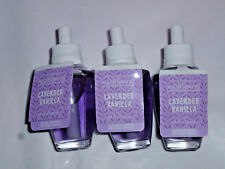 Bath & Body Works Wallflowers Refills Lavender Vanilla X 3 - New Flat Bottom