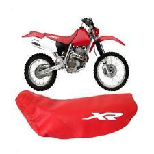 Honda XR400R XR 400 R 2001 Modelo de Motocicleta Asiento Funda en rojo con logotipos de Blanco