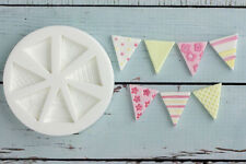Silicone Mould, Bunting, Flags, Food Grade Ellam Sugarcraft M0152