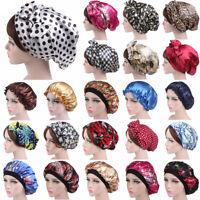 Silk Night Cap For Long Curly Hair Care Scarves Bonnet Sleep Sleeping Hat Lot