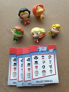 Justice League K Blings 5 figure lot. Cable Protectors. Rare Cheetah included.