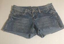 Rue 21 Juniors Shorts 100% Cotton Denim Distressed Faded Wash Mini Shorts
