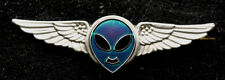 ALIEN PILOT WING PIN US AIR FORCE AREA 51 Independence STAR WARS NASA SPACE UFO