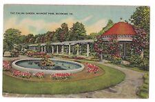 Maymont Park The Italian Garden Pagoda Richmond Virginia Postcard Va Linen