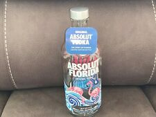 Absolut Vodka Silver Sequins Sleeve Limited Edition with Belly Label// Neck Tag