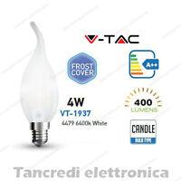 Lampadina led V-TAC 4W E14 bianco freddo 6400K VT-1937 a fiamma bianca filamento