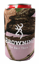 Browning Pink Camo Can cooler,Browning Pink Camo Can Koozie Buckmark Can Koozie