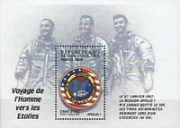 MADAGASCAR 2000 SPACE =  APOLLO 1 CREW & PATCH S/S MNH