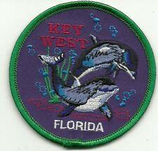 Key West Florida Souvenir Travel Patch Dolphins