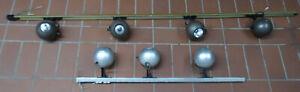 Kugellampen mit Schienen Strahler mid century design 1970er