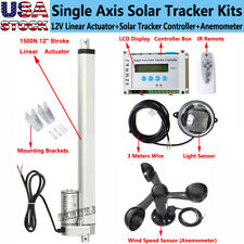 Lcd Single Axis Solar Tracker 12 Linear Actuator With Controller Anemometer Cl