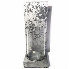 Pier 1 Vase Glass Single Galvanized Iron Candle Holder