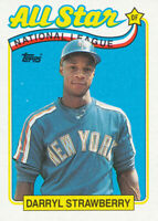 Darryl Strawberry 1989 Topps #390 New York Mets Baseball Card